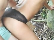 Hot cuckold outdoor sex with girlfriend and friend